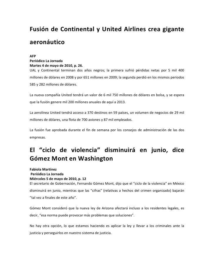 Notas periodisticas 8 columnas mayo y junio
