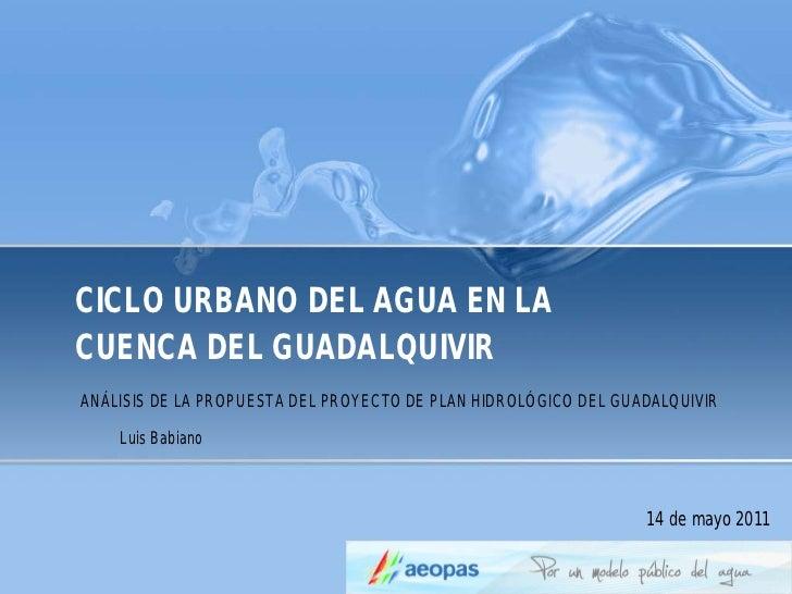 Notas plan hidrológico guadalquivir