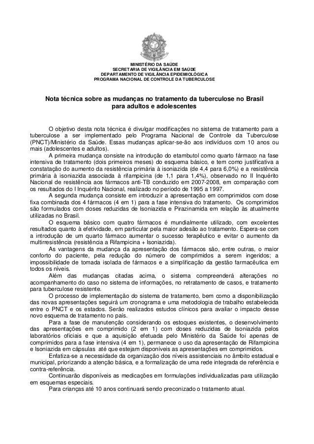 MINISTÉRIO DA SAÚDE                              SECRETARIA DE VIGILÂNCIA EM SAÚDE                          DEPARTAMENTO D...