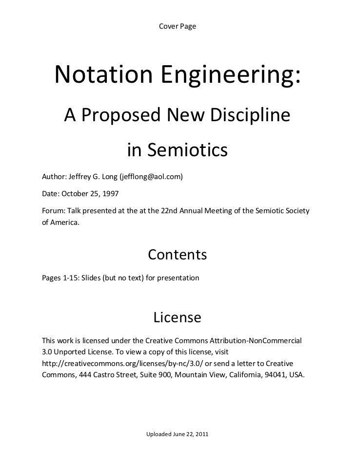 Notational engineering
