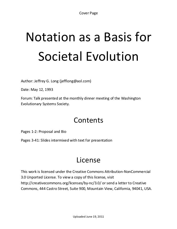 Notation as a basis for societal evolution