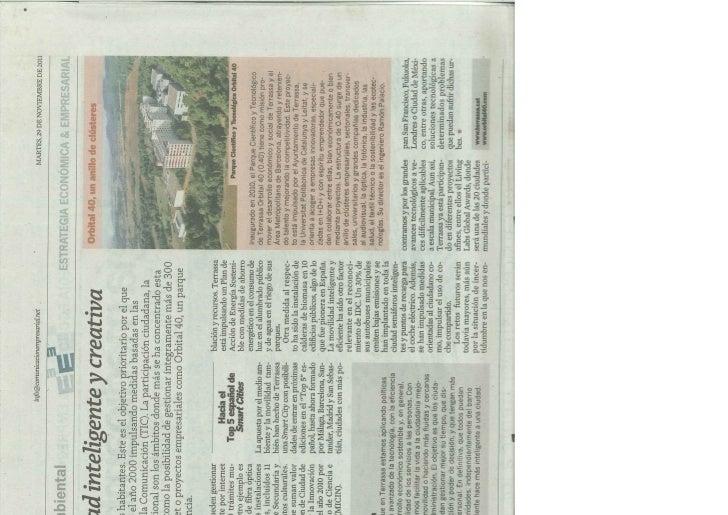 Notícia El País. Smart City Terrassa