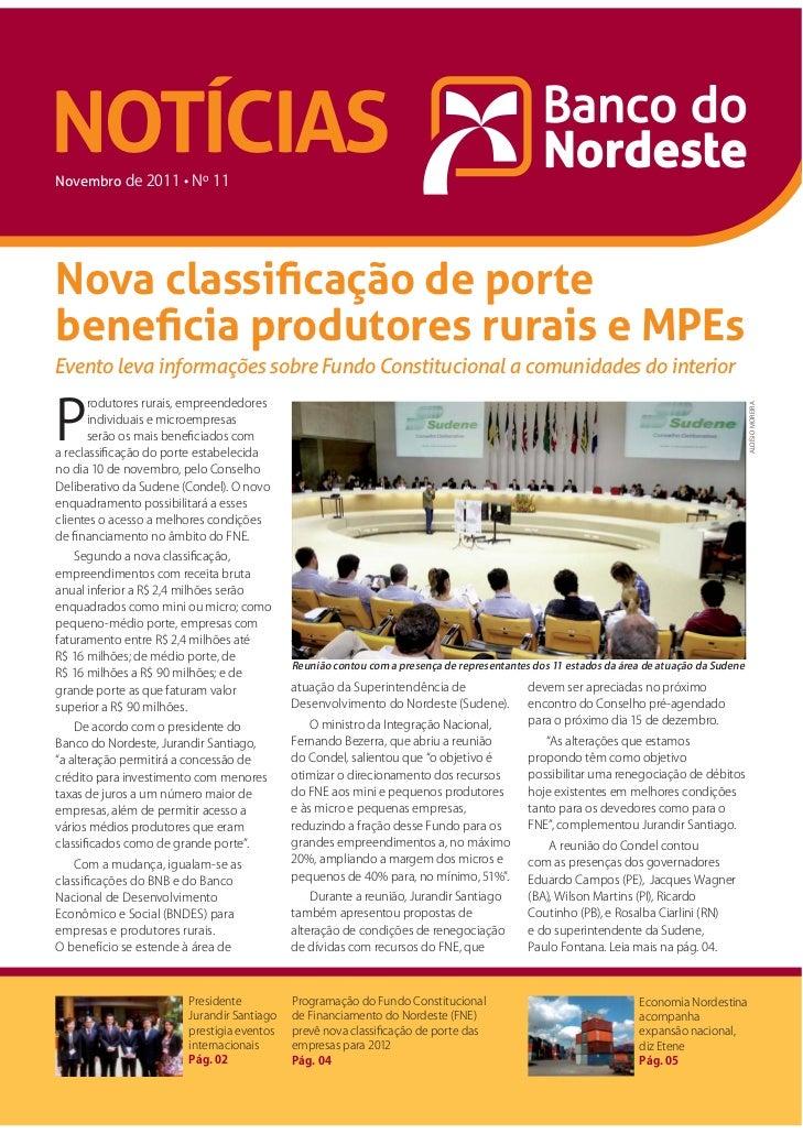 Notícias Banco do Nordeste, edição nº 11 – Novembro 2011