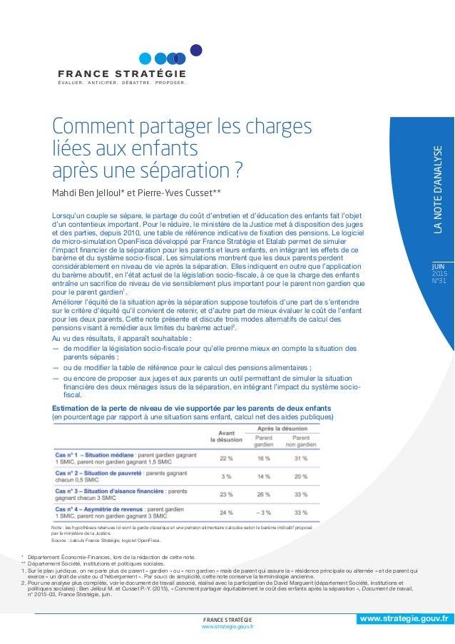 1FRANCE STRATÉGIE www.strategie.gouv.fr www.strategie.gouv.fr JuiN 2015 N°31 * Département Économie-Finances, lors de la r...
