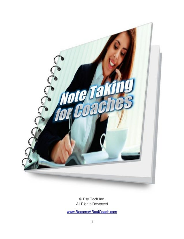 Note Taking For Life Coaches or Business Coaches
