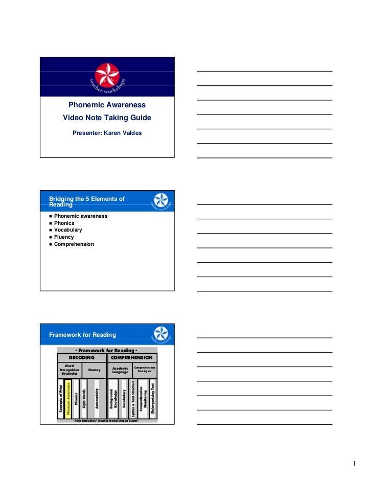 Note taking guide - Phonemics