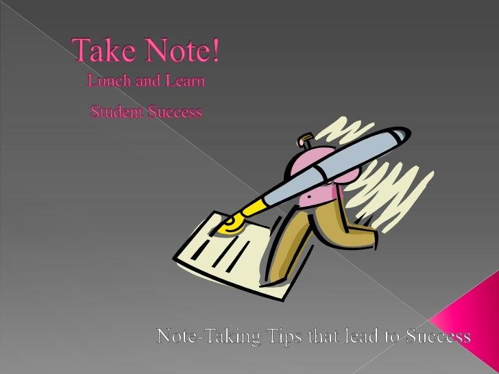 Note -Taking Skills