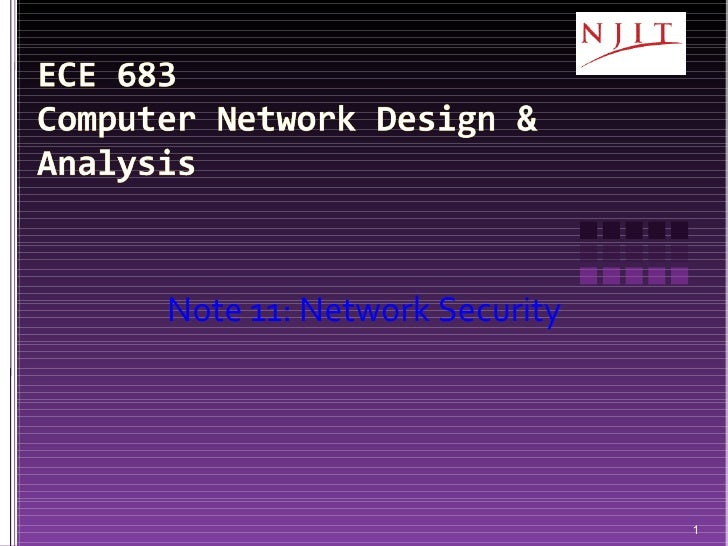 Note 11: Network Security