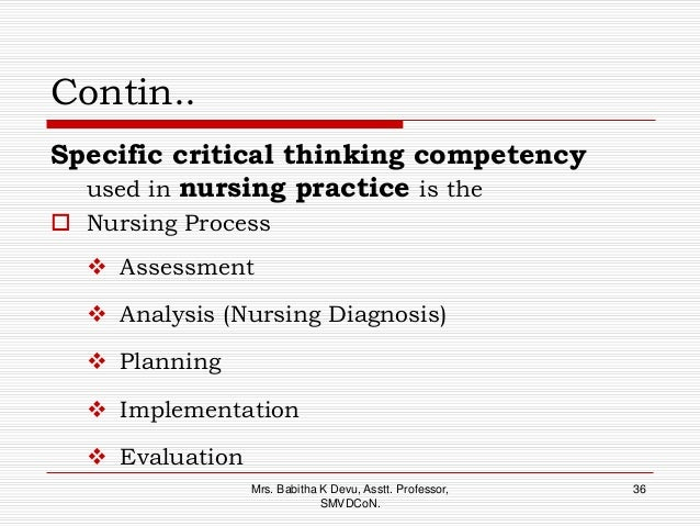 critical and analytical thinking competency