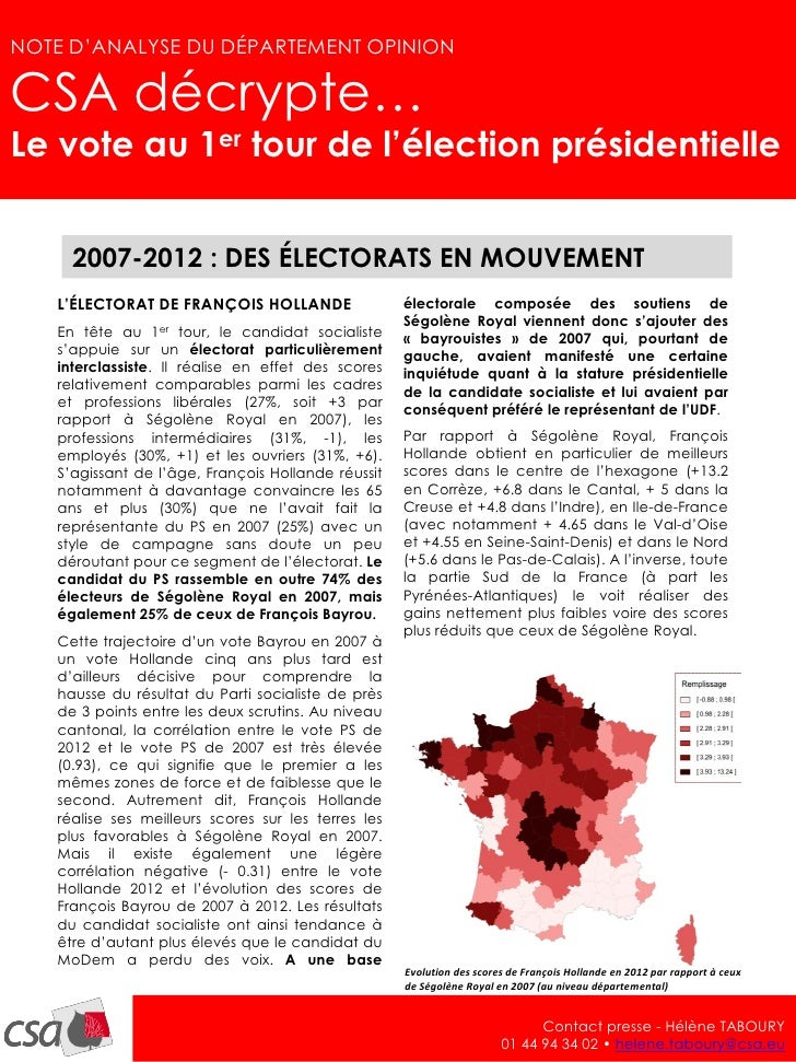 NOTE D'ANALYSE – avril 2012                                                                                               ...