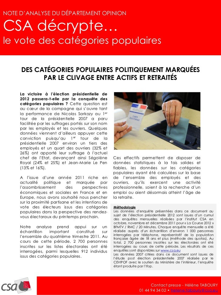 NOTE D'ANALYSE - janvier 2012                                                                                         1NOT...