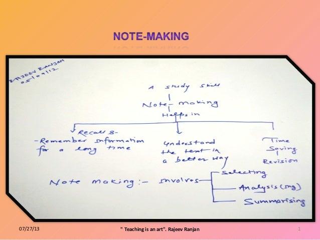 """07/27/13 1"""" Teaching is an art"""". Rajeev Ranjan"""