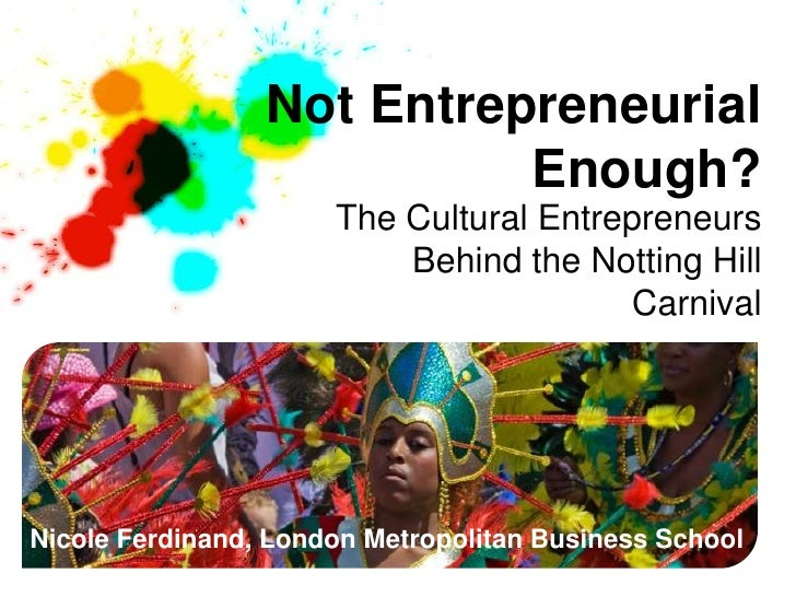 Not Entrepreneurial                           Enough?                      The Cultural Entrepreneurs                     ...