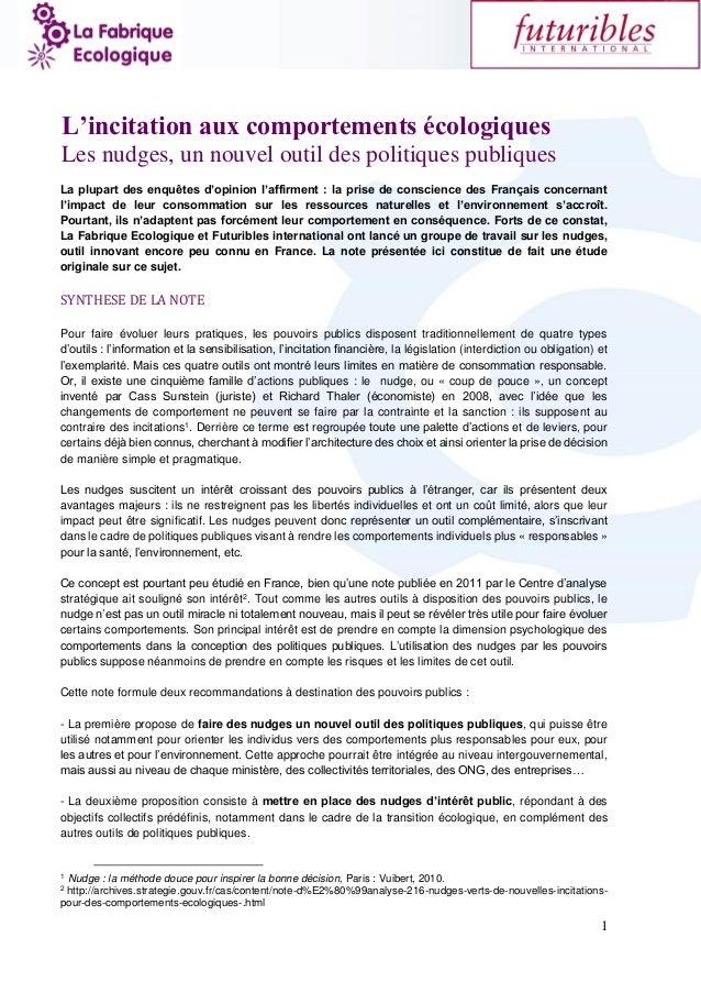 1 La plupart des enquêtes d'opinion l'affirment : la prise de conscience des Français concernant l'impact de leur consomma...