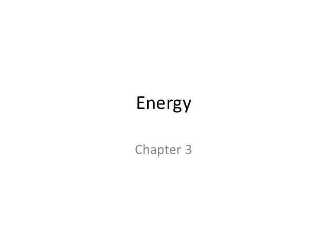 EnergyChapter 3