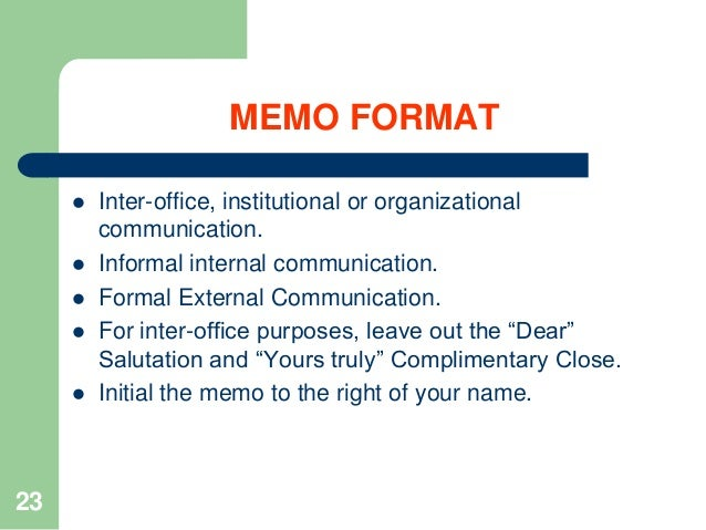 I need examples of personal memos?