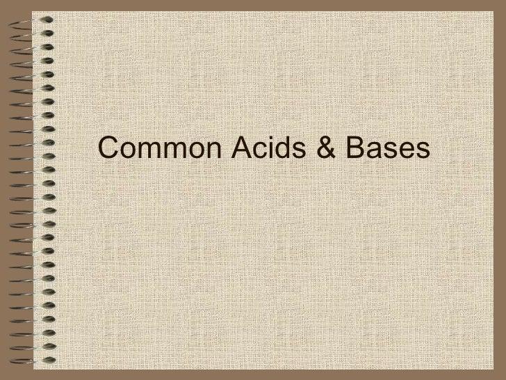 Common Acids & Bases