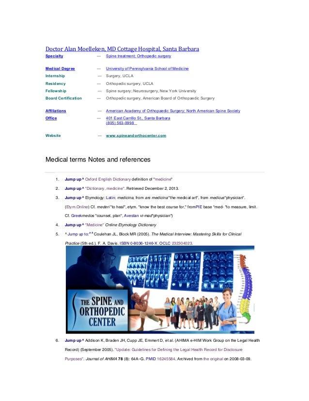 Notes and references alan moelleken md lawsuit terms cottage hospital santa barbara md