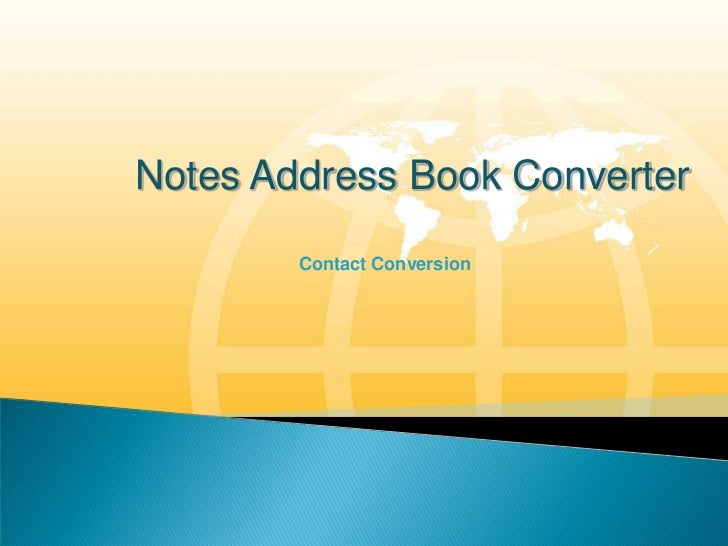 Notes Contacts Conversion