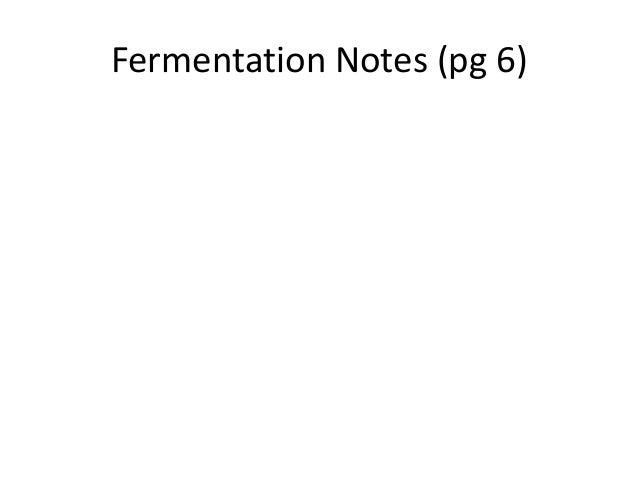 Notes fermentation