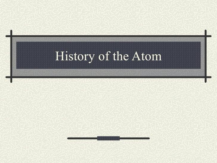 Notes Key   History Of The Atom Teacher