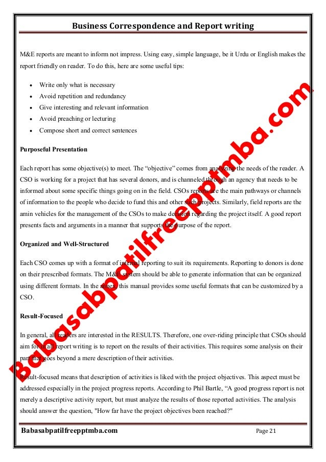 Business report writing meaning