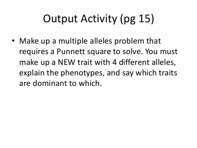 math worksheet : notes multiple alleles : Multiple Alleles Worksheet