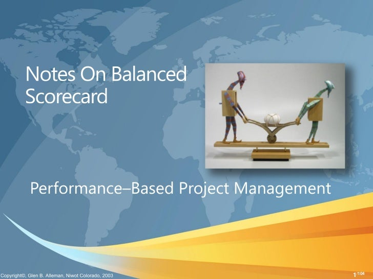 Notes on balanced scorecard