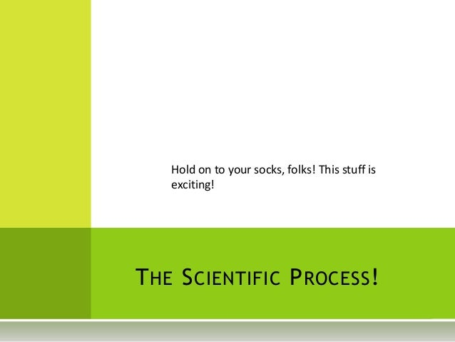 Hold on to your socks, folks! This stuff is exciting! THE SCIENTIFIC PROCESS!