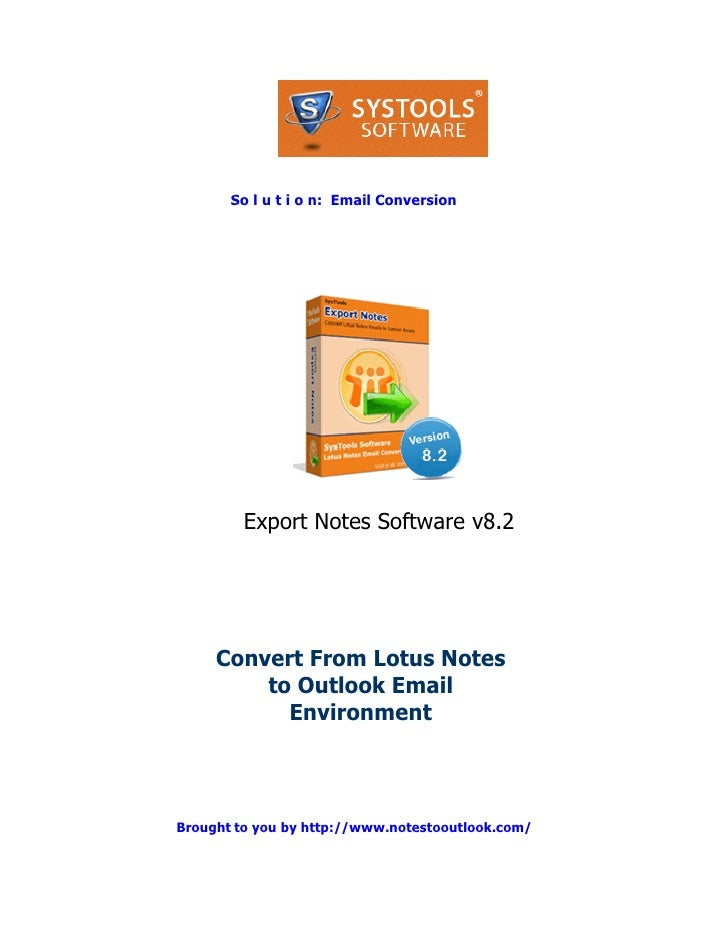Convert Notes to Outlook