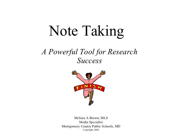 Note Taking Strategies by Melissa A. Brown