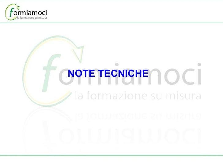 NOTE TECNICHE