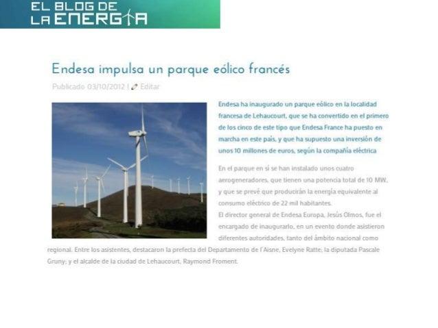 Endesa impulsa un parque eólico francés