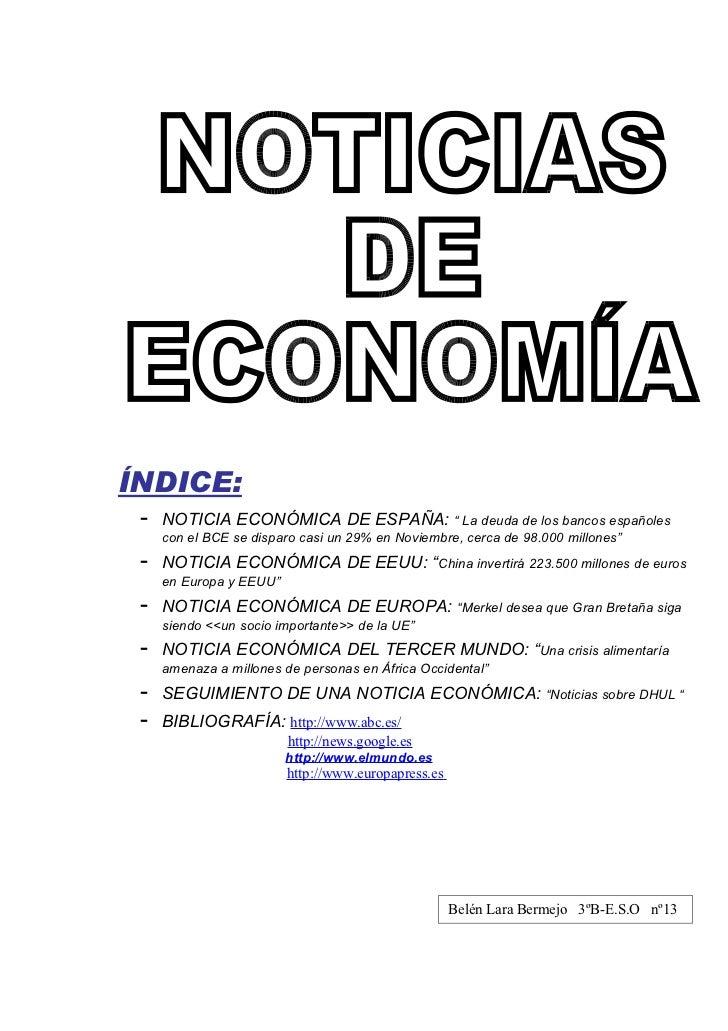 Noticia económica