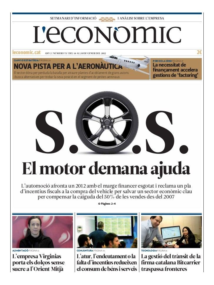 SETMANARI D'INFORMACIÓ                                 I ANÀLISI SOBRE L'EMPRESAleconomic.cat           ANY 2 | NÚMERO 73 ...