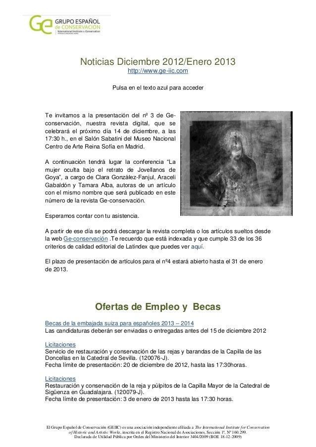 Noticias Diciembre 2012/Enero 2013                                              http://www.ge-iic.com                     ...