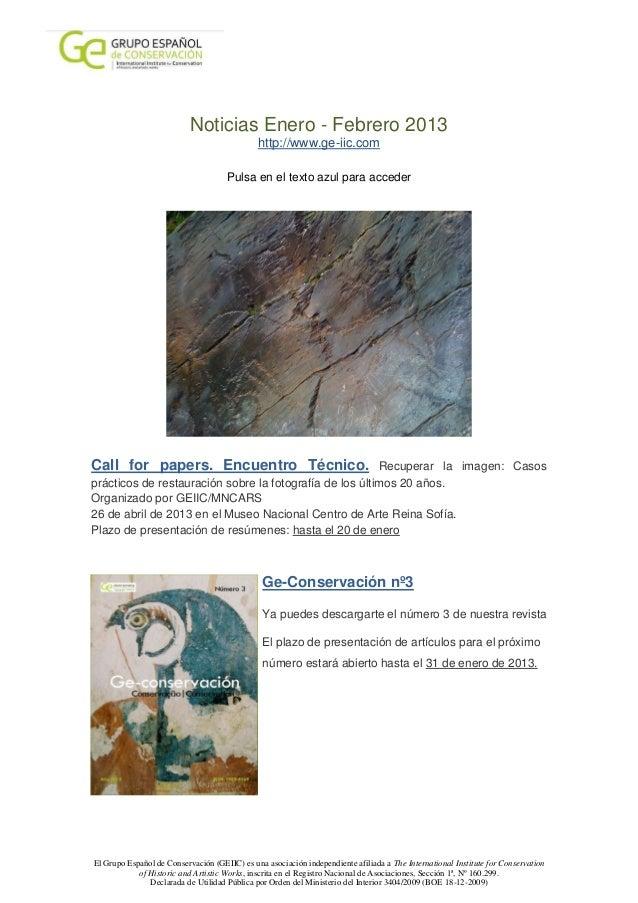 Noticias Enero - Febrero 2013                                              http://www.ge-iic.com                          ...