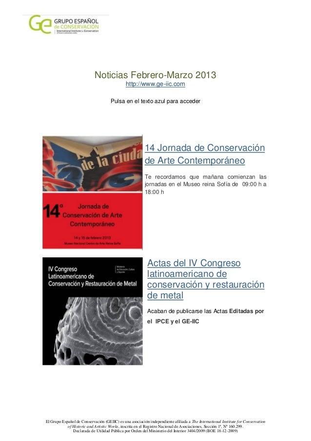 Noticias Febrero-Marzo 2013                                              http://www.ge-iic.com                            ...