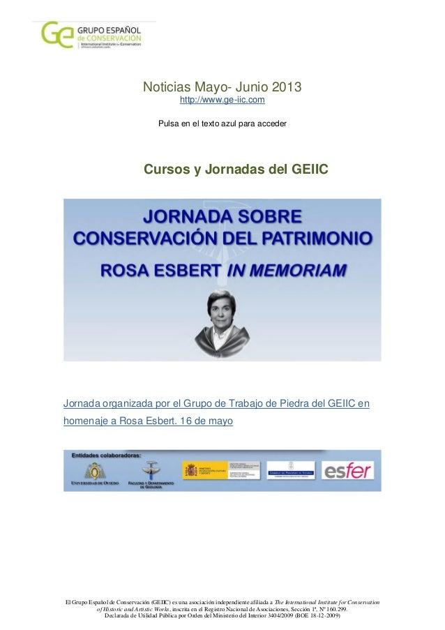 El Grupo Español de Conservación (GEIIC) es una asociación independiente afiliada a The International Institute for Conser...