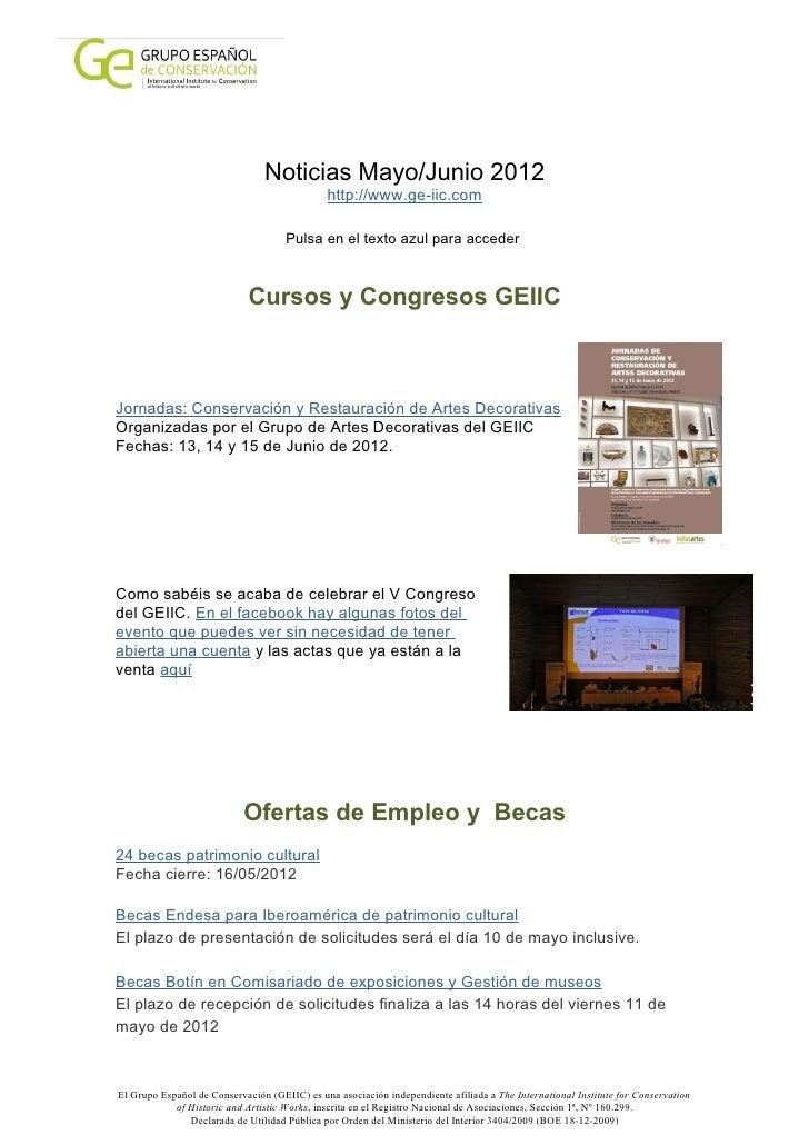 Noticias Mayo/Junio 2012                                              http://www.ge-iic.com                               ...