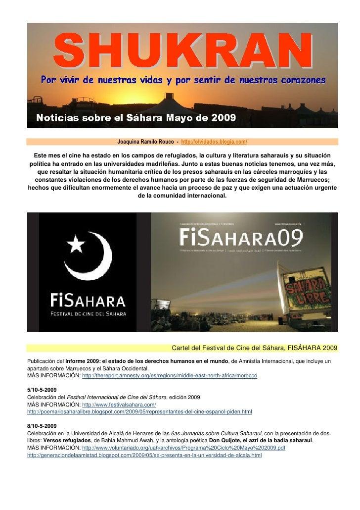 Noticias Sahara Mayo 2009