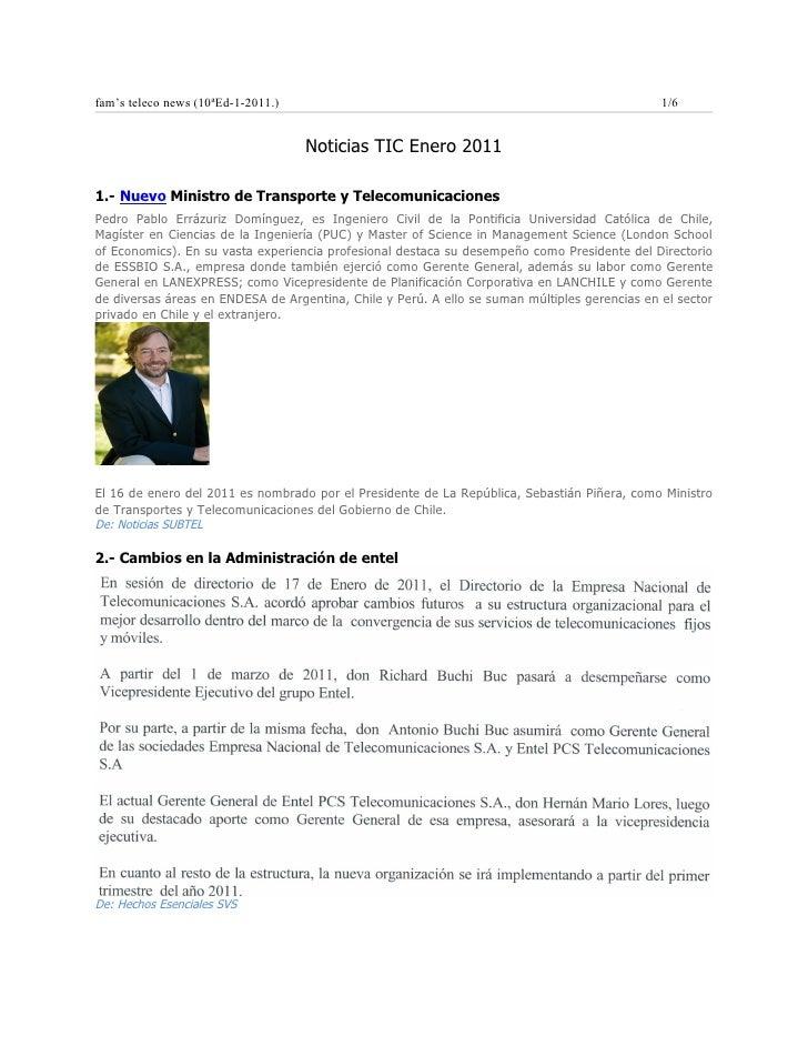 Noticias Tel ene2011