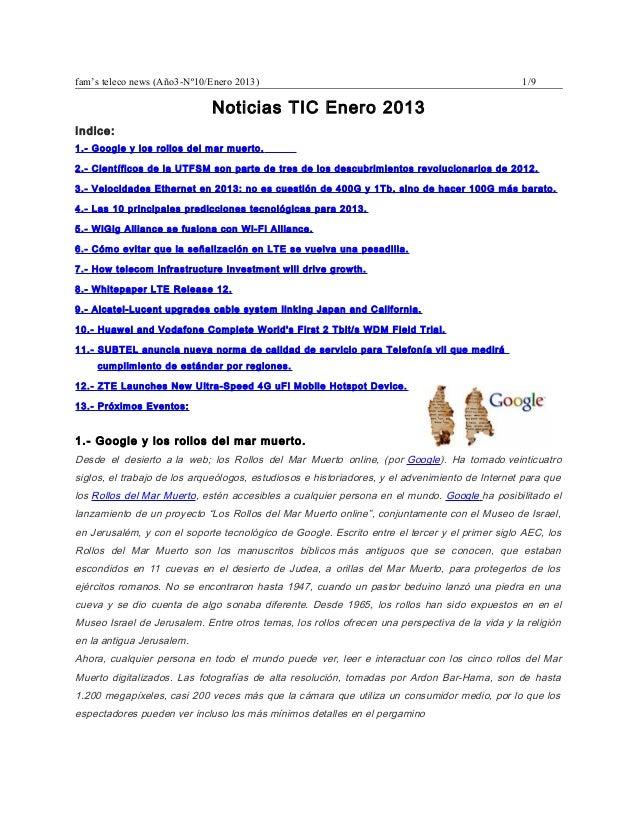 Noticias tel enero  2013