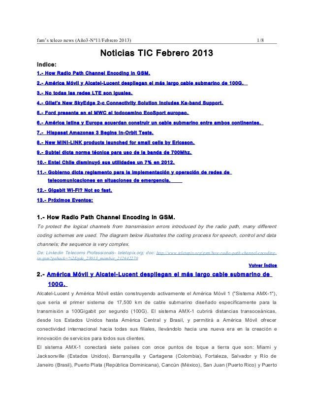 fam's teleco news (Año3-Nº11/Febrero 2013)                                                                  1/8           ...