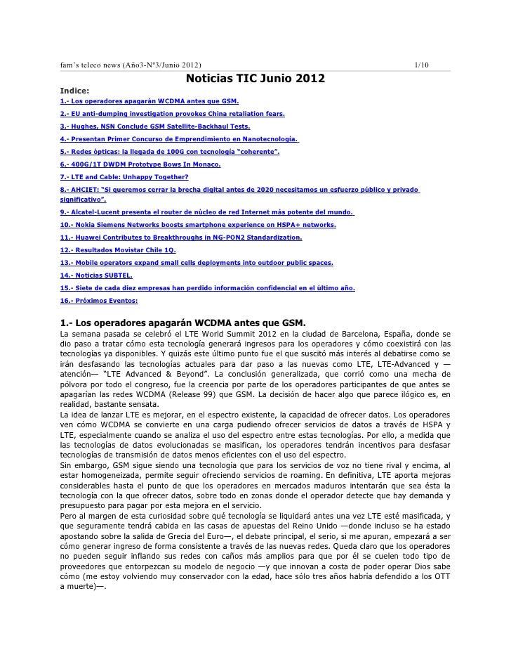 fam's teleco news (Año3-Nº3/Junio 2012)                                                                1/10               ...