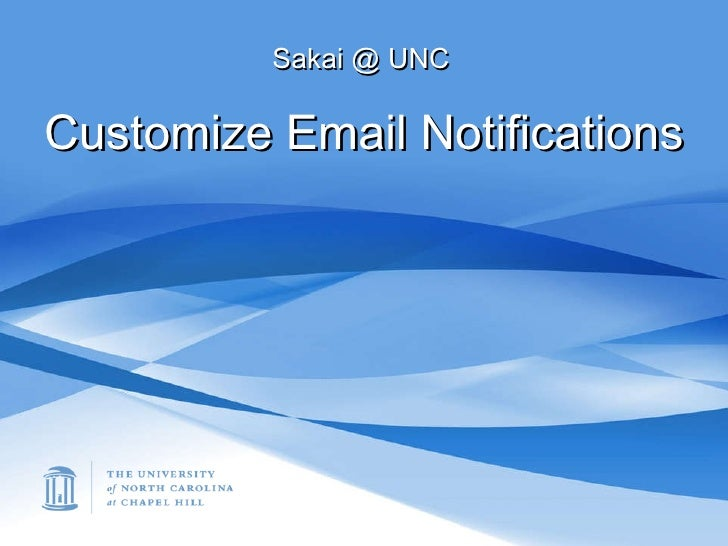 Modify Email Notifications Settings