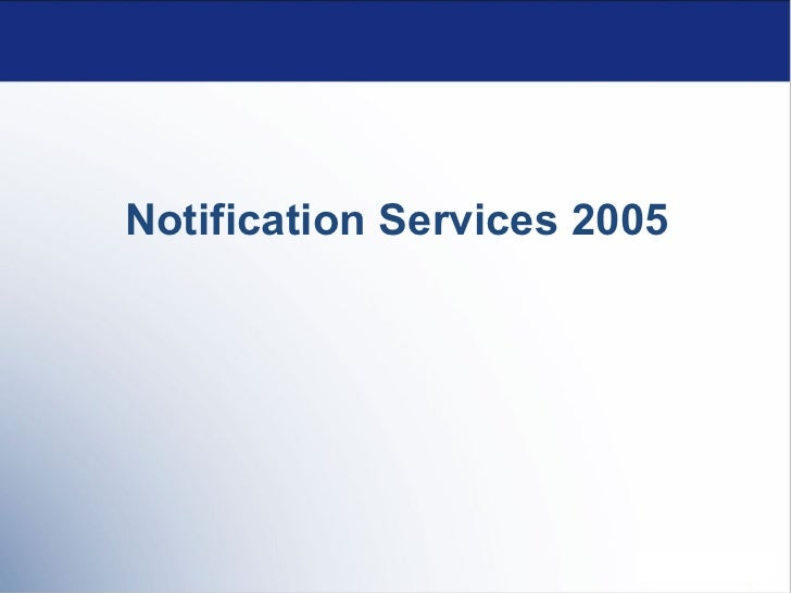 Notification Services 2005
