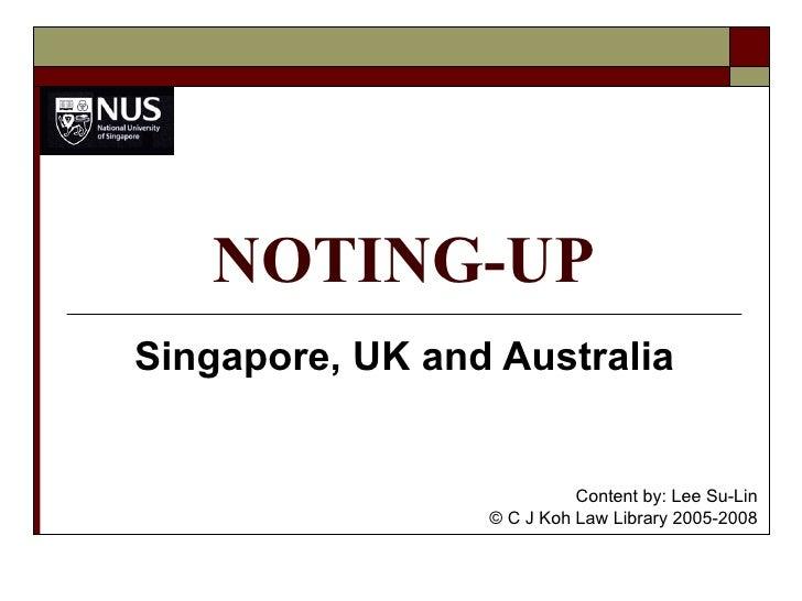Noting Up