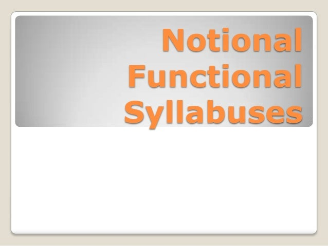 Notional functional syllabuses