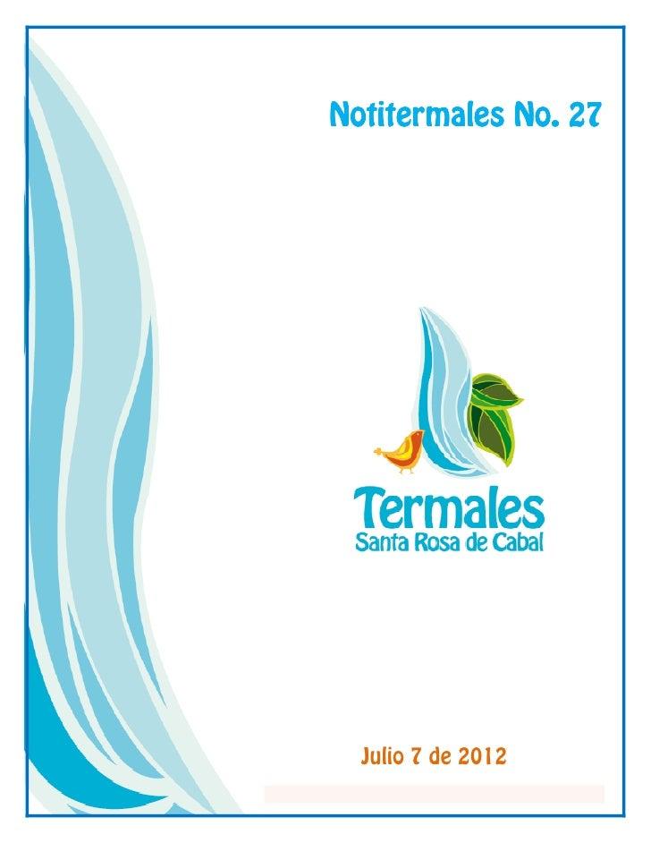 Notitermales No. 27  Julio 7 de 2012